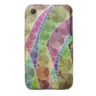 Modelo abstracto de Bling del tono de la tierra Funda Bareyly There Para iPhone 3 De Case-Mate