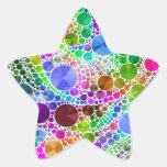 Modelo abstracto de Bling Pegatinas Forma De Estrellaes Personalizadas