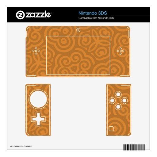 Modelo abstracto de bronce nintendo 3DS calcomanía