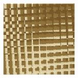 Modelo abstracto de Brown Camo de las tejas de mos Invitaciones Personales