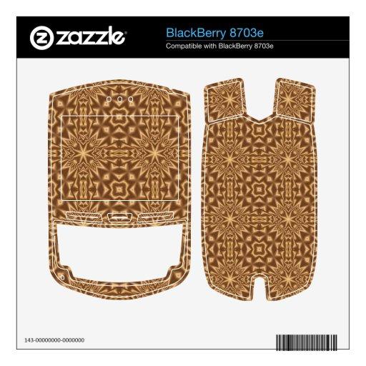 Modelo abstracto de Brown Calcomanías Para BlackBerry