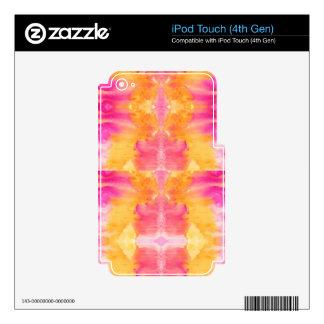 modelo abstracto de la acuarela del iPod touch 4G skins