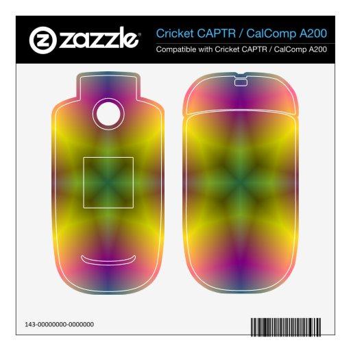 Modelo abstracto de la flor cricket CAPTR skin