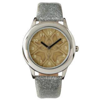 Modelo abstracto de la madera relojes de pulsera