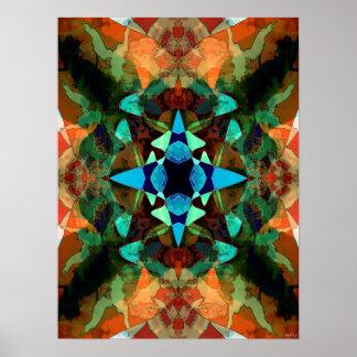 Modelo abstracto de la mancha de tinta póster