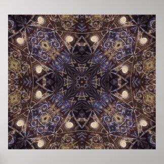 Modelo abstracto de la placa de cristal póster