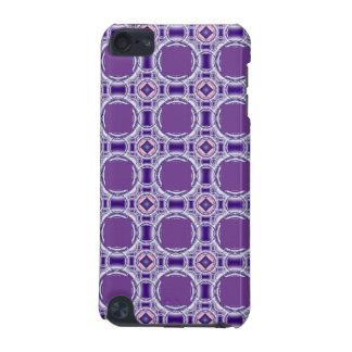 Modelo abstracto de la púrpura del caso del tacto  funda para iPod touch 5G