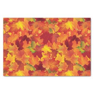 Modelo abstracto de las hojas de otoño papel de seda pequeño