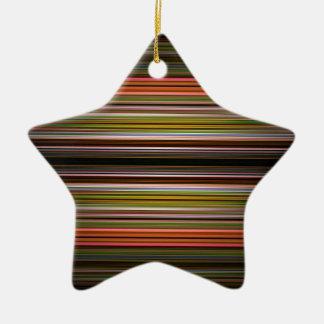 Modelo abstracto de las rayas adorno de cerámica en forma de estrella