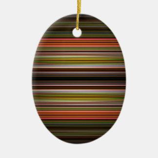 Modelo abstracto de las rayas adorno ovalado de cerámica