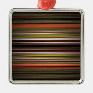 Modelo abstracto de las rayas adorno cuadrado plateado