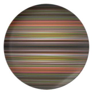 Modelo abstracto de las rayas platos para fiestas