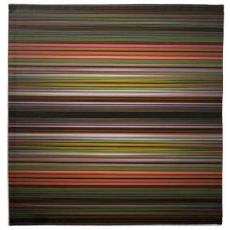 Modelo abstracto de las rayas servilletas de papel
