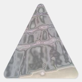 Modelo abstracto de las tejas de tejado pegatina triangular
