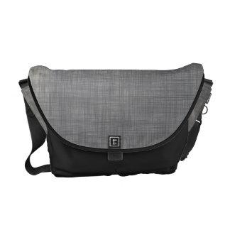 Modelo abstracto de lino sutil en gris bolsa messenger