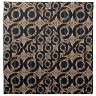 Modelo abstracto de los círculos futuristas servilletas imprimidas