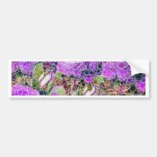 Modelo abstracto de los rosas púrpuras pegatina para auto