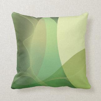 Modelo abstracto de los verdes cojin