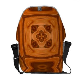 Modelo abstracto de madera anaranjado bolsa de mensajeria