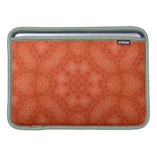 Modelo abstracto de madera anaranjado fundas MacBook