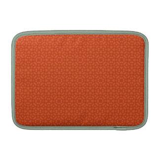 Modelo abstracto de madera anaranjado fundas macbook air