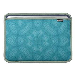 Modelo abstracto de madera azul funda macbook air