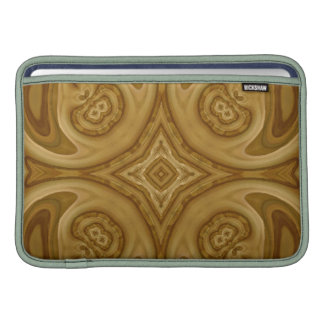 Modelo abstracto de madera funda macbook air