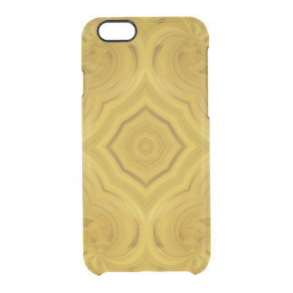 Modelo abstracto de madera funda clearly™ deflector para iPhone 6 de uncommon
