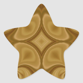 Modelo abstracto de madera pegatina en forma de estrella