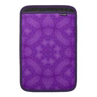 Modelo abstracto de madera púrpura funda macbook air