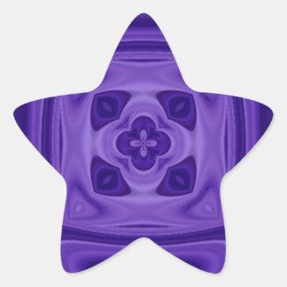 Modelo abstracto de madera púrpura pegatina en forma de estrella