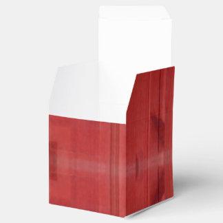 Modelo abstracto de madera rojo caja para regalos de fiestas