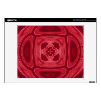 Modelo abstracto de madera rojo portátil 35,6cm skins
