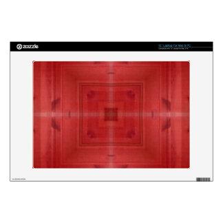 Modelo abstracto de madera rojo portátil skin