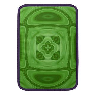 Modelo abstracto de madera verde funda para macbook air