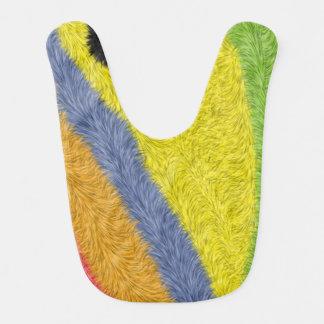 Modelo abstracto de moda colorido babero de bebé