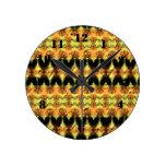 Modelo abstracto de moda colorido reloj redondo mediano