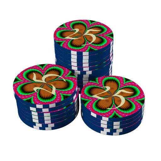 Modelo abstracto de moda fichas de póquer