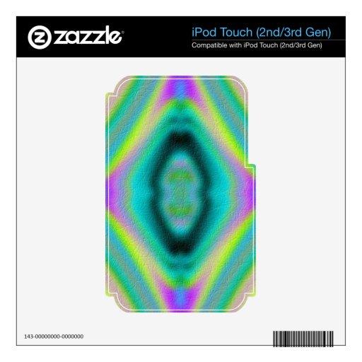 Modelo abstracto de moda iPod touch 2G calcomanía