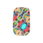 Modelo abstracto de moda moderno pegatinas para uñas