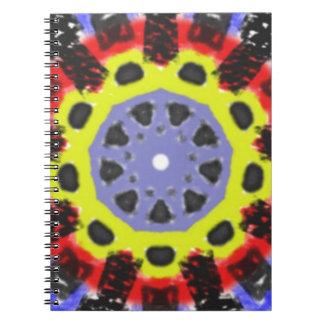 Modelo abstracto del caleidoscopio libro de apuntes con espiral