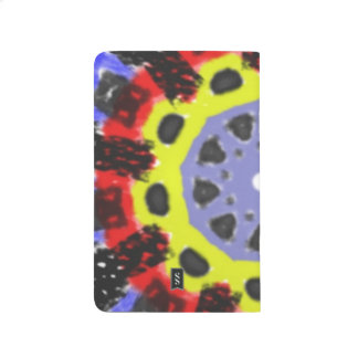 Modelo abstracto del caleidoscopio cuaderno grapado