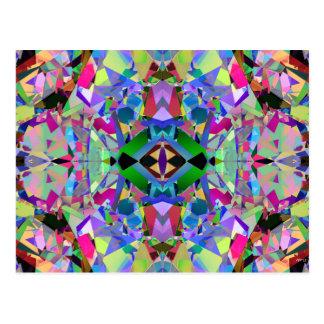Modelo abstracto del caleidoscopio postales