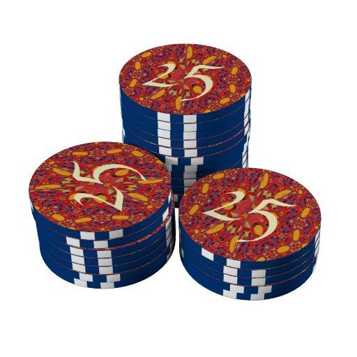 Modelo abstracto del caos fichas de póquer