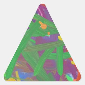 Modelo abstracto del caos pegatina triangular