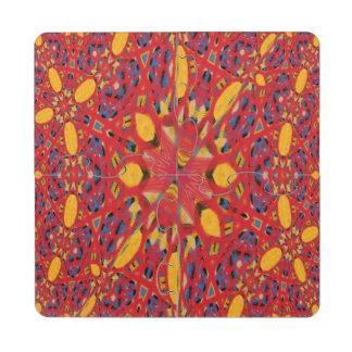 Modelo abstracto del caos posavasos de puzzle