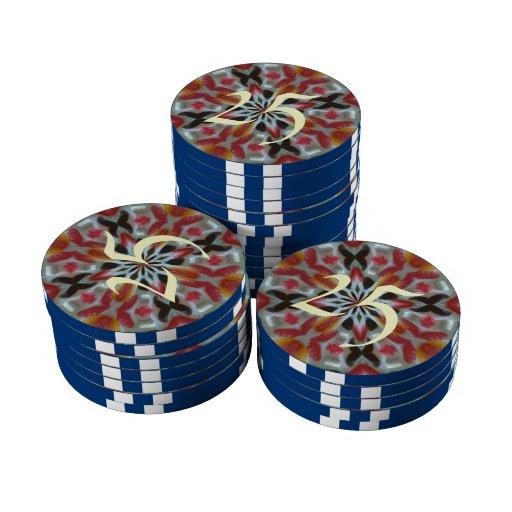 Modelo abstracto del caramelo fichas de póquer