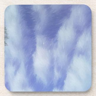 Modelo abstracto del cielo posavasos de bebidas