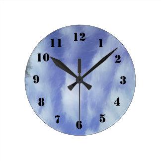 Modelo abstracto del cielo reloj de pared