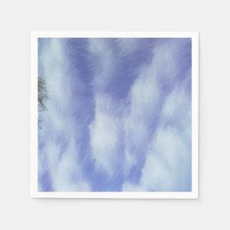 Modelo abstracto del cielo servilletas de papel
